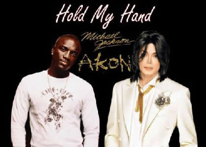 Michael Jackson Hold my Hand sung with Akon. It's really funny to me how they think they can get away...